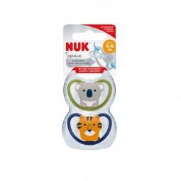 Nuk Space Chupeta Silicone T1 0-6m - 2 unidades - comprar Nuk Space Chupeta Silicone T1 0-6m - 2 unidades online - Farmácia B...