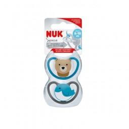 Nuk Space Chupeta Silicone T2 6-18m - 2 unidades - comprar Nuk Space Chupeta Silicone T2 6-18m - 2 unidades online - Farmácia...