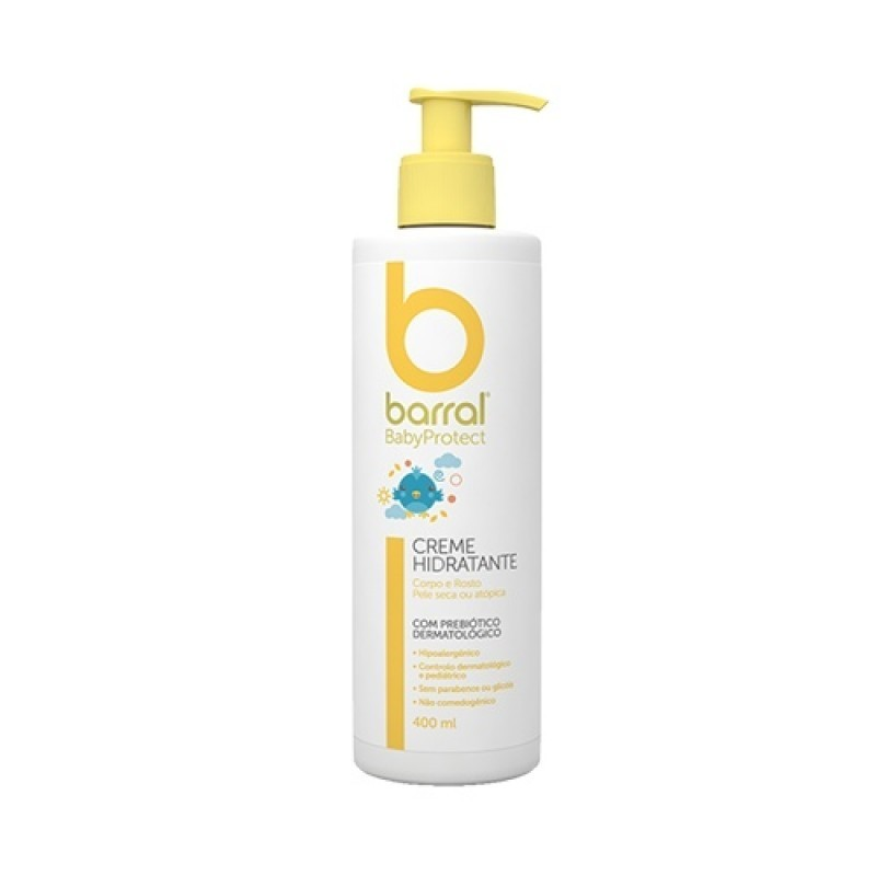 Barral BabyProtect Creme Hidratante - 400 mL - comprar Barral BabyProtect Creme Hidratante - 400 mL online - Farmácia Barreir...