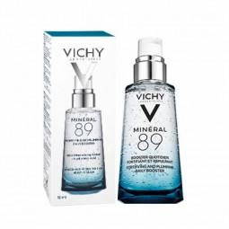 Vichy Homme Coffret Hydra Cool+ Gel Hidratante com Oferta Mineral 89 Concentrado Fortificante e Preenchedor - 50mL + 10mL - c...
