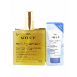Nuxe Huile Prodigieuse Riche Óleo Rico com oferta Nuxe Crème Fraîche De Beauté Hidratante 48h - 100mL + 15mL - comprar Nuxe H...