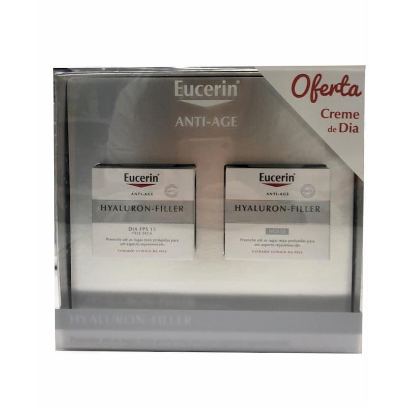 Eucerin Hyaluron-Filler Creme de Noite c/ Oferta Creme Dia Pele Seca - 50 mL + 50 mL - comprar Eucerin Hyaluron-Filler Creme ...