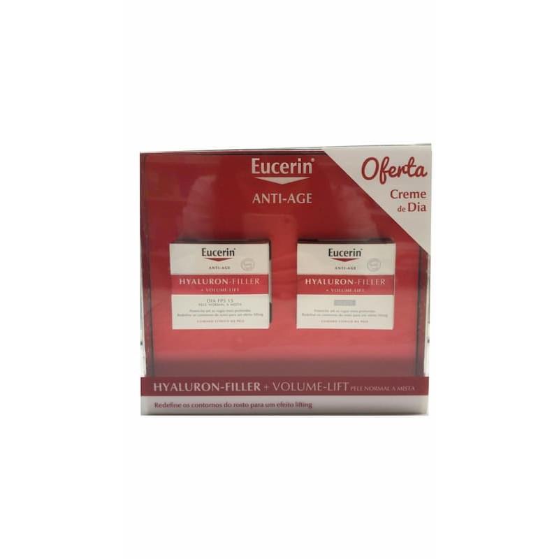 Eucerin Hyaluron-Filler Volume-Lift Creme Noite c/ Oferta Creme Dia - Pele Normal a Mista - 50 mL + 50 mL - comprar Eucerin H...