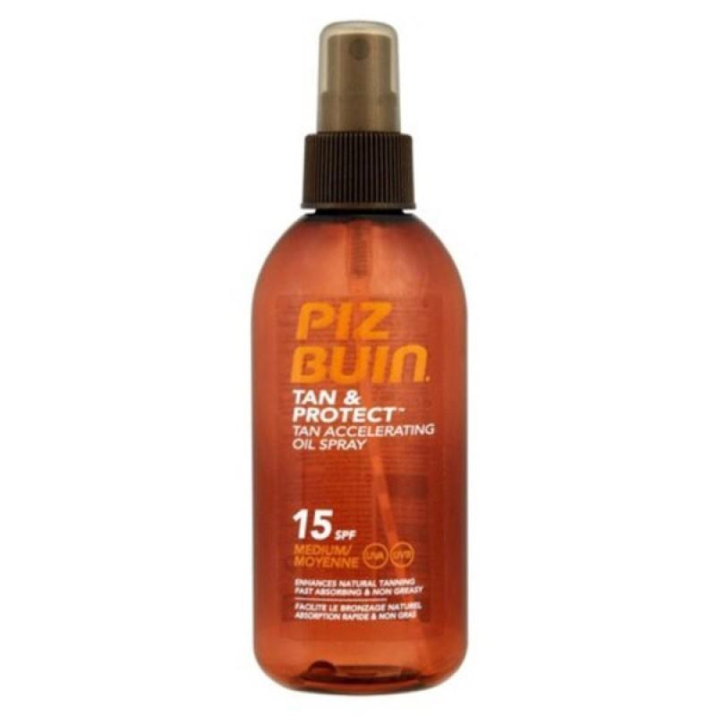 Piz Buin Tan & Protect Óleo Spray SPF 15 - 150 mL - comprar Piz Buin Tan & Protect Óleo Spray SPF 15 - 150 mL online - Farmác...