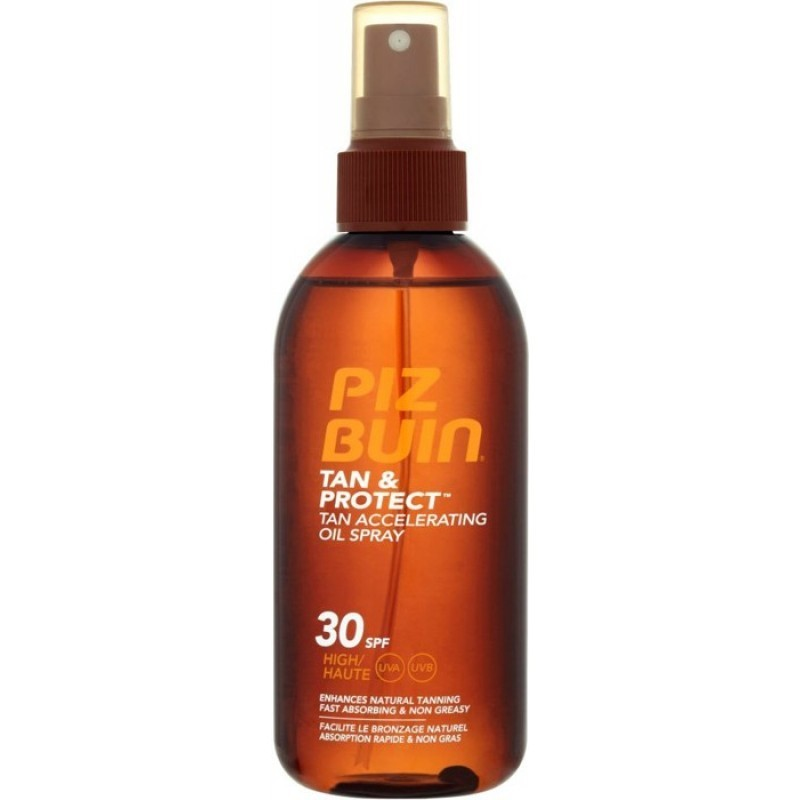Piz Buin Tan & Protect Óleo Spray SPF 30 - 150 mL - comprar Piz Buin Tan & Protect Óleo Spray SPF 30 - 150 mL online - Farmác...
