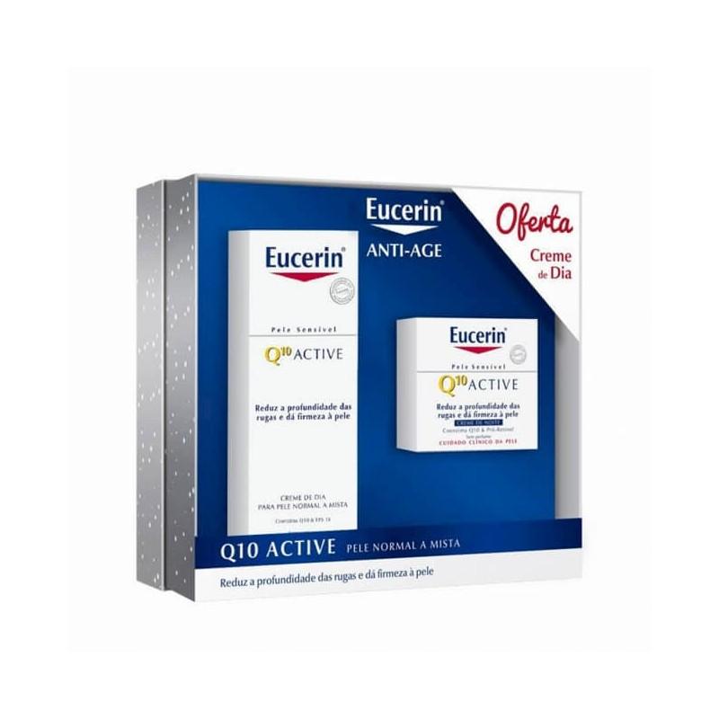 Eucerin Q10 Active Creme Noite c/ Oferta Creme Dia Pele Normal a Mista - 50 mL + 50 mL - comprar Eucerin Q10 Active Creme Noi...