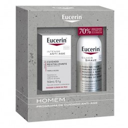 Eucerin Men Intense Anti-age c/ Oferta Espuma de Barbear - 50 mL + 150 mL - comprar Eucerin Men Intense Anti-age c/ Oferta Es...