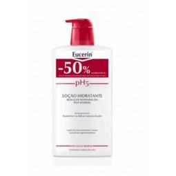Eucerin Pele Sensível pH5 Loção Hidratante c/ Desconto 50% - 1L - comprar Eucerin Pele Sensível pH5 Loção Hidratante c/ Desco...