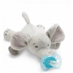 Philips Avent Ultra Soft Snuggle Elefante com Chupeta Azul Menino 0-6M - 1 peluche + 1 chupeta - comprar Philips Avent Ultra ...