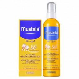Mustela Solar Leite Protetor SPF 50+ com Oferta 2ª Embalagem - 300 mL + 100 mL - comprar Mustela Solar Leite Protetor SPF 50+...
