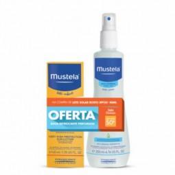 Mustela Leite Solar Proteção Rosto SPF 50+ com Oferta Água Refrescante Perfumada - 40 mL + 200 mL - comprar Mustela Leite Sol...