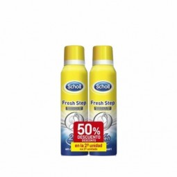 Dr. Scholl Fresh Step Spray Desodorizante Pés c/ Desconto de 50% 2ª Embalagem - 2 x 150mL - comprar Dr. Scholl Fresh Step Spr...