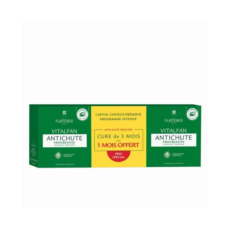 René Furterer Vitalfan Antiqueda Progressiva c/ Oferta 3ªEmbalagem - 3 x 30 cápsulas (90 cápsulas) - comprar René Furterer Vi...