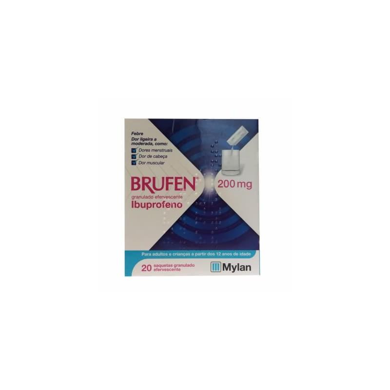 Brufen 200mg - 20 saquetas granulado efervescente - comprar Brufen 200mg - 20 saquetas granulado efervescente online - Farmác...