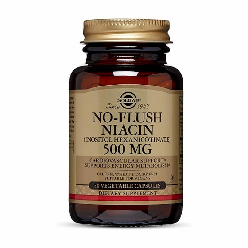 Solgar No Flush Niacin 500mg - 50 cápsulas - comprar Solgar No Flush Niacin 500mg - 50 cápsulas online - Farmácia Barreiros -...