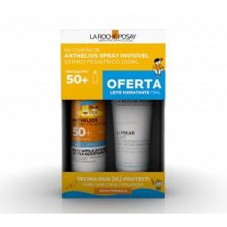 La Roche Posay Anthelios Dermo-Pediatrics Spray Invisível SPF50+ c/ Oferta Lipikar Leite - 200mL + 75mL - comprar La Roche Po...