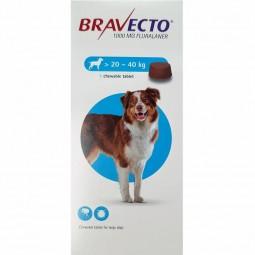 Bravecto Cão 1000mg 20 a 40 kg - 1 comprimido mastigável - comprar Bravecto Cão 1000mg 20 a 40 kg - 1 comprimido mastigável o...