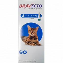 Bravecto Gato 250mg - 1 pipeta x 1,79 mL - comprar Bravecto Gato 250mg - 1 pipeta x 1,79 mL online - Farmácia Barreiros - far...