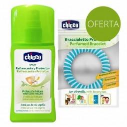 Chicco Natural Spray Refrescante Protetor contra Mosquitos com Oferta de Pulseira - 100 mL + 1 pulseira - comprar Chicco Natu...