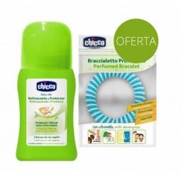 Chicco Natural Roll-on Refrescante Protetor contra Mosquitos com Oferta de Pulseira - 60 mL + 1 pulseira - comprar Chicco Nat...