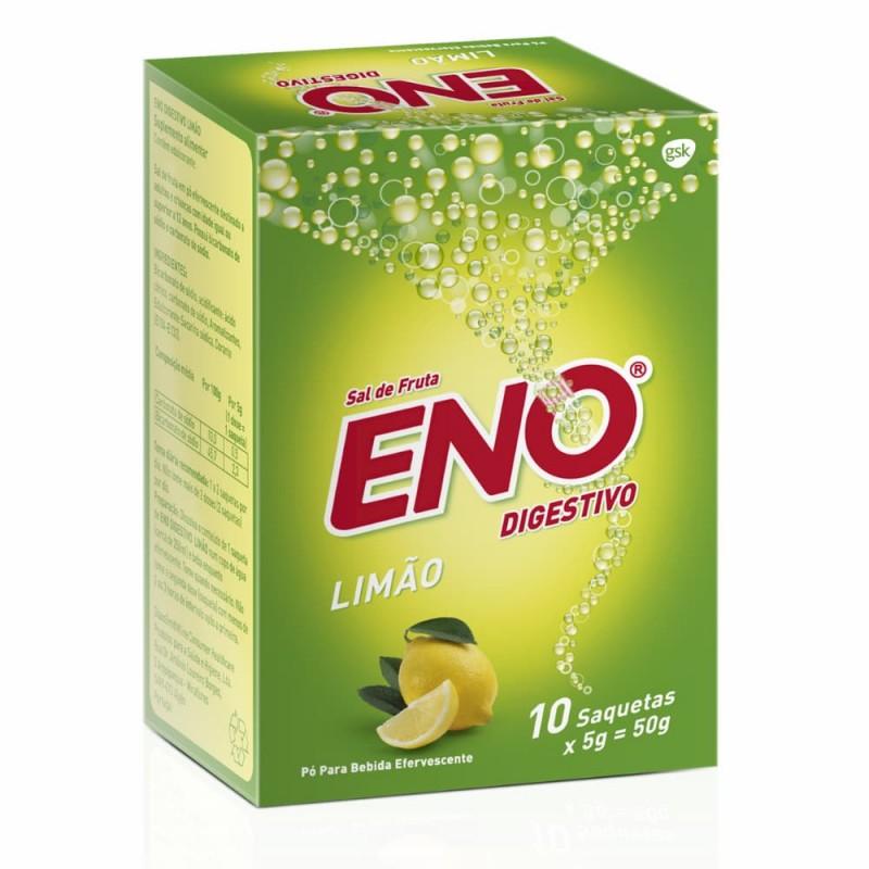 Eno Digestivo Sais de Fruta Limão - 10 saquetas - comprar Eno Digestivo Sais de Fruta Limão - 10 saquetas online - Farmácia B...