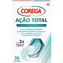 Corega Acão Total Pastilhas de Limpeza Diaria - 36 pastilhas - comprar Corega Acão Total Pastilhas de Limpeza Diaria - 36 pas...
