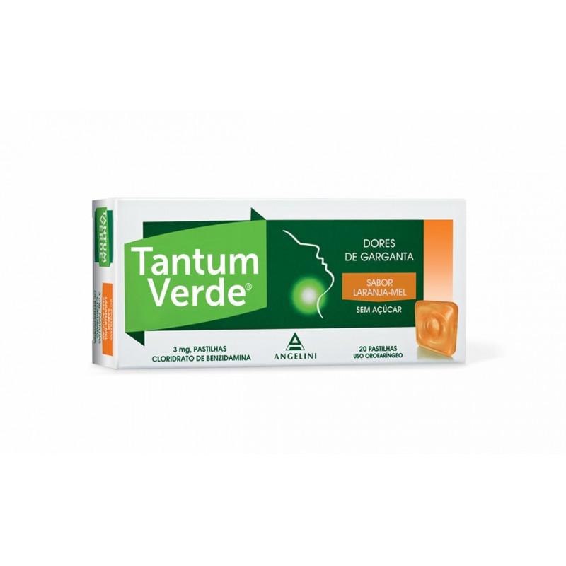 Tantum Verde 3 mg - 20 pastilhas - comprar Tantum Verde 3 mg - 20 pastilhas online - Farmácia Barreiros - farmácia de serviço