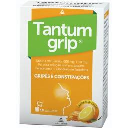 Tantumgrip Mel e Limão 600/10 mg - 10 saquetas - comprar Tantumgrip Mel e Limão 600/10 mg - 10 saquetas online - Farmácia Bar...
