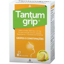 Tantumgrip Limão 600/10 mg - 10 saquetas - comprar Tantumgrip Limão 600/10 mg - 10 saquetas online - Farmácia Barreiros - far...