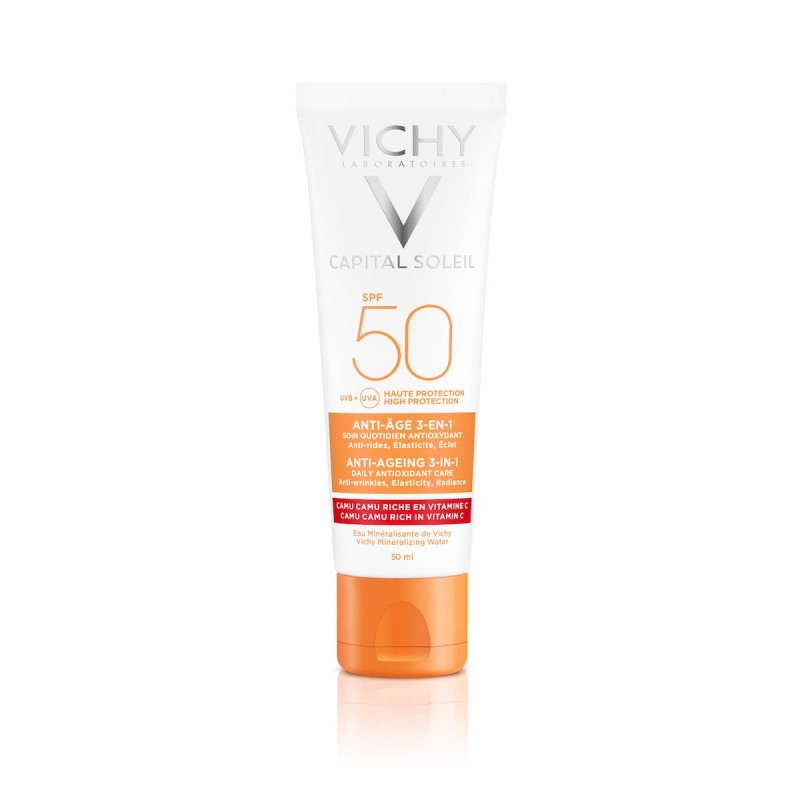 Vichy Capital Soleil Creme Anti-idade 3em1 SPF 50 - 50 mL - comprar Vichy Capital Soleil Creme Anti-idade 3em1 SPF 50 - 50 mL...