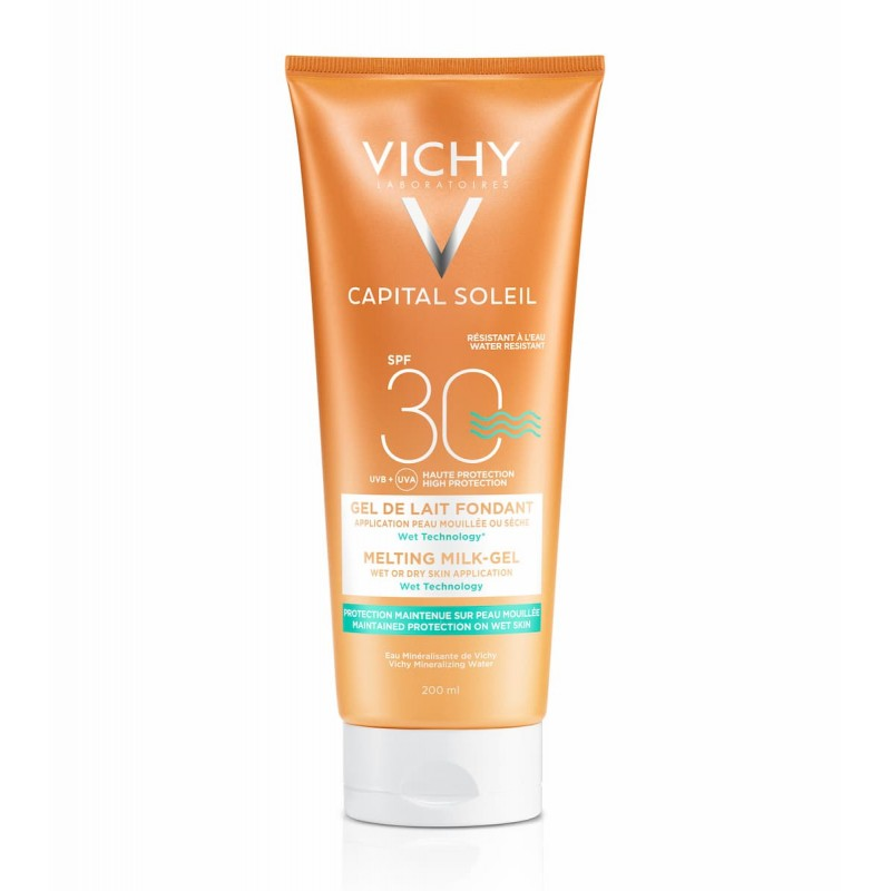 Vichy Capital Soleil Gel Leite Ultrafundente com Wet Technology SPF 30 - 200 mL - comprar Vichy Capital Soleil Gel Leite Ultr...