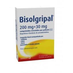 Bisolgripal 200 mg + 30 mg - 20 comprimidos revestidos por película - comprar Bisolgripal 200 mg + 30 mg - 20 comprimidos rev...