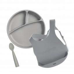 Minikoioi Conjunto Alimentação Cinza - 1 Kit de refeição - comprar Minikoioi Conjunto Alimentação Cinza - 1 Kit de refeição o...