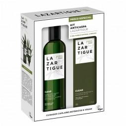 Lazartigue Kit Anticaspa Clear Champô + Clear Pós-champô - 250 mL + 75 mL - comprar Lazartigue Kit Anticaspa Clear Champô + C...