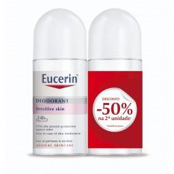 Eucerin Desodorizante Roll-On Pele Sensível 24h - 2 x 50 mL - comprar Eucerin Desodorizante Roll-On Pele Sensível 24h - 2 x 5...
