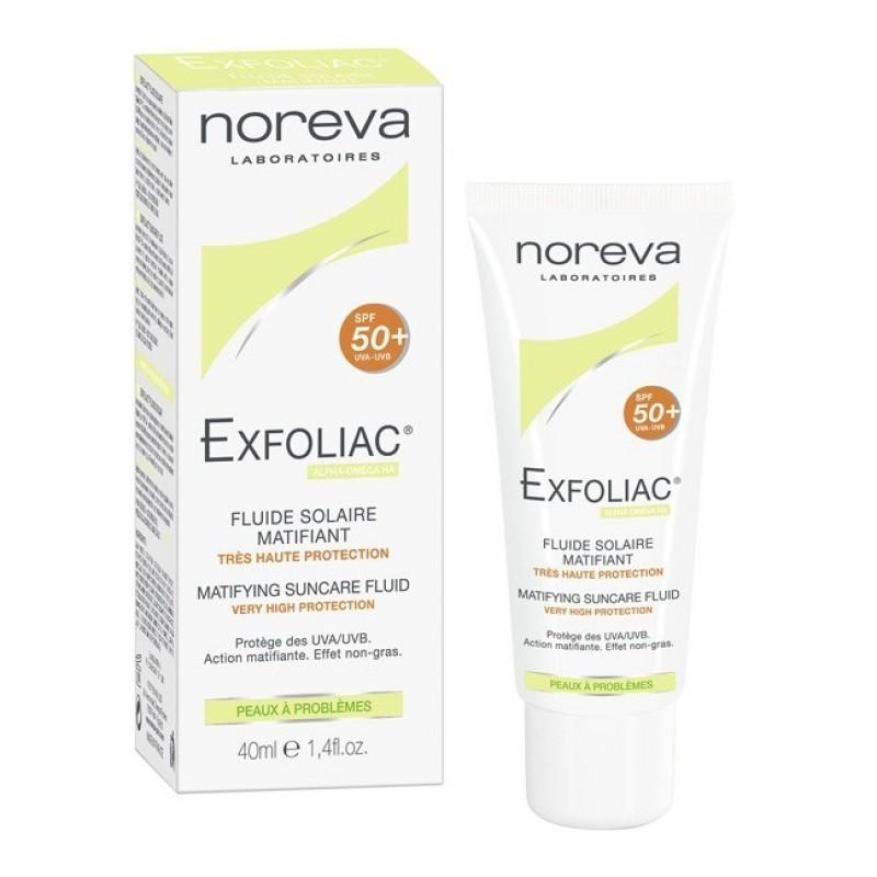Noreva Exfoliac Fluido Solar SPF 50+ - 40 mL - comprar Noreva Exfoliac Fluido Solar SPF 50+ - 40 mL online - Farmácia Barreir...