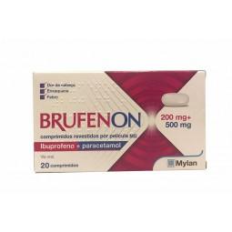 Brufenon 200 mg + 500 mg - 20 comprimidos revestidos por película - comprar Brufenon 200 mg + 500 mg - 20 comprimidos revesti...
