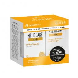 Heliocare 360º D Plus Cápsulas + Heliocare 360º Pigment Solution Fluid SPF 50+ - 30 cápsulas + 50 mL - comprar Heliocare 360º...