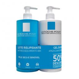 La Roche Posay Lipikar Leite + La Roche Posay Lipikar Gel de Duche - 750 mL + 750 mL - comprar La Roche Posay Lipikar Leite +...