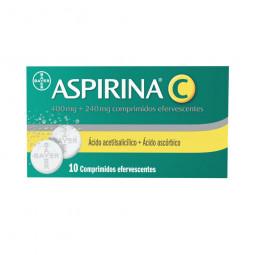Aspirina C - 10 comprimidos efervescentes - comprar Aspirina C - 10 comprimidos efervescentes online - Farmácia Barreiros - f...