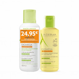 A-Derma Exomega Control Creme Emoliente + A-Derma Exomega Control Óleo de Duche - 400 mL + 200 mL - comprar A-Derma Exomega C...