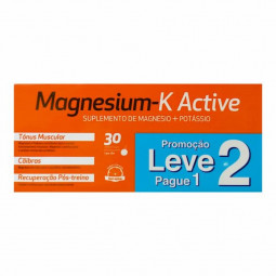 Magnesium-K Active Duo Comprimidos Efervescentes com Oferta da 2ª Embalagem - 2 x 30 comprimidos - comprar Magnesium-K Active...