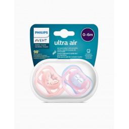 Philips Avent Chupeta Ultra Air 0-6M Rapariga - 2 Chupetas - comprar Philips Avent Chupeta Ultra Air 0-6M Rapariga - 2 Chupet...