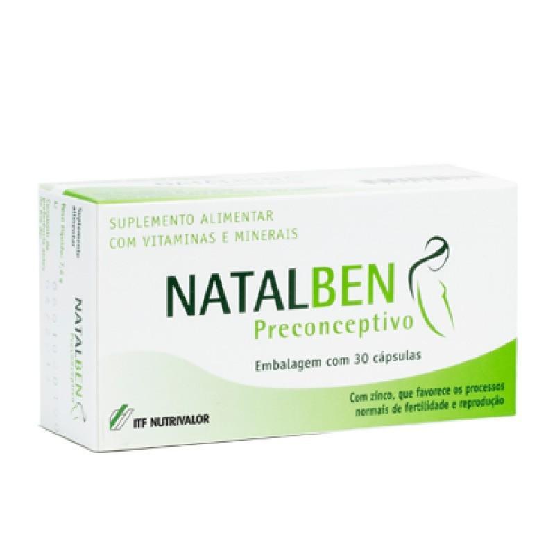 Natalben Preconcetivo - 30 cápsulas - comprar Natalben Preconcetivo - 30 cápsulas online - Farmácia Barreiros - farmácia de s...