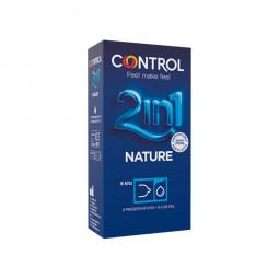 Control Nature Preservativos Adapta Kit 2in1 Preservativos + Gel Lubrificante - 6 kits (1 preservativo + 1 dose de gel) - com...