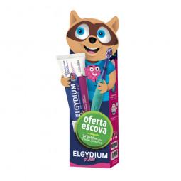 Elgydium Kids Back to School Gel Dentífrico Frutos Silvestres com Oferta de Escova de Dentes - 50 mL + escova de dentes - com...