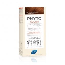 Phyto Phytocolor Coloração Permanente 7.43 Louro Acobreado Dourado - 1 Kit de Coloração - comprar Phyto Phytocolor Coloração ...