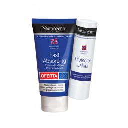 Neutrogena Creme de Mãos Absorção Rápida com Oferta Stick Labial - 75 mL + 3 g - comprar Neutrogena Creme de Mãos Absorção Rá...
