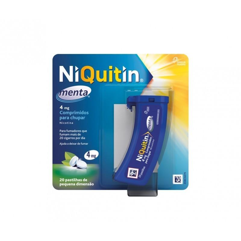 NiQuitin Menta - 4 mg - comprar NiQuitin Menta - 4 mg online - Farmácia Barreiros - farmácia de serviço