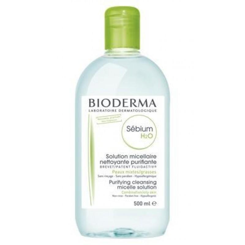 Bioderma Sébium H2O Água Micelar - 500 mL - comprar Bioderma Sébium H2O Água Micelar - 500 mL online - Farmácia Barreiros - f...